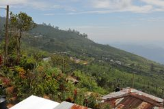 Mountain village in Horten Plains in Sri Lanka. A Mountain village in Horten Plains in Sri Lanka Royalty Free Stock Photo