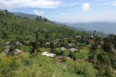 Mountain village in Horten Plains in Sri Lanka. A Mountain village in Horten Plains in Sri Lanka Royalty Free Stock Images