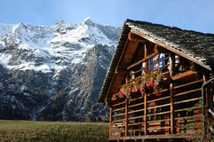 Mountain village house Royalty Free Stock Images