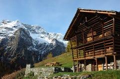 Mountain village house Royalty Free Stock Photo