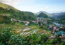A mountain village in Ifugao, Philippines Royalty Free Stock Image