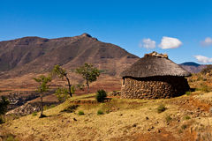 Mountain village  iin Africa Stock Photos