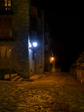 Mountain village illumination Stock Images