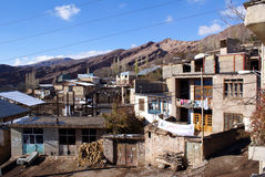 Mountain village in Iran royalty free stock photo