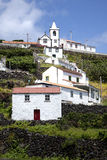 Mountain village on the island of Sao Jorge, Azores Royalty Free Stock Images