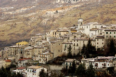 Mountain village in Italy Royalty Free Stock Photography