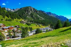 Mountain village in Italy Royalty Free Stock Photo