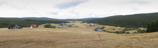 Mountain village Jizerka in Jezerske hory mountains in northern Bohemia Royalty Free Stock Photo