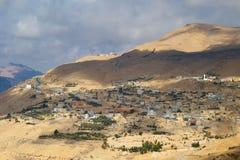 Mountain village, Jordan Royalty Free Stock Photos