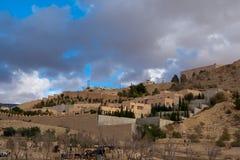 Mountain village, Jordan Royalty Free Stock Images