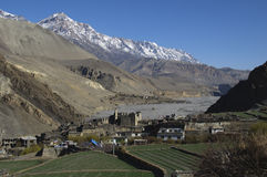 The mountain village Kagbeni, Mustang Royalty Free Stock Photography