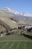 The mountain village Kagbeni, Mustang Stock Photo