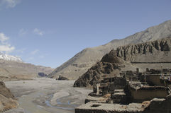 The mountain village Kagbeni, Mustang Royalty Free Stock Images