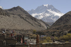 The mountain village Kagbeni, Mustang Royalty Free Stock Photos