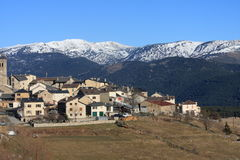 Mountain village of Les Angles in Pyrenees Orientales, France Royalty Free Stock Photography