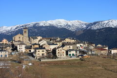 Mountain village of Les Angles in Pyrenees Orientales, France. Mountain village of Les Angles in Capcir, Pyrenees Orientales in south of France royalty free stock photos