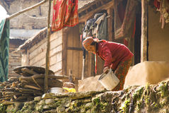 Mountain Village Life Stock Photos