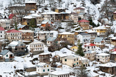 Mountain village. From Macedonia in winter Royalty Free Stock Photography