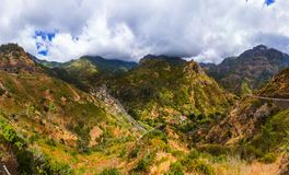 Mountain village in Madeira Portugal royalty free stock image