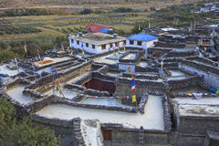 Mountain village Marpha in Himalayas, Nepal. Stock Photography