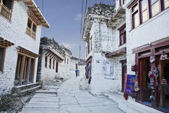 Mountain village Marpha in Himalayas, Nepal. Stock Photo