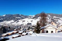 Mountain Village of Megeve Royalty Free Stock Photos