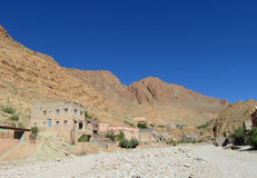 Mountain village in Morocco Royalty Free Stock Photo