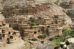 Mountain village in Morocco Royalty Free Stock Photos