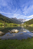 Mountain village of Muehlwald in South Tyrol, Ital Royalty Free Stock Photo