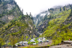Mountain village in Naran Kaghan valley, Pakistan Stock Photos