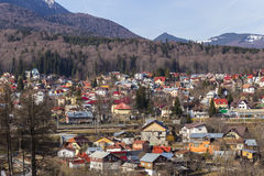 Mountain village near Sinaia Romania Royalty Free Stock Photos