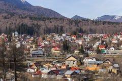 Mountain village near Sinaia Romania Royalty Free Stock Photos