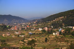 Mountain village in Nepal Stock Images