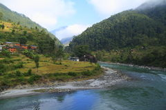 Mountain village in Nepal Stock Photography