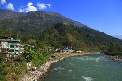 Mountain village in Nepal Royalty Free Stock Photography