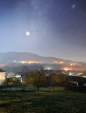 Mountain village at night Royalty Free Stock Images