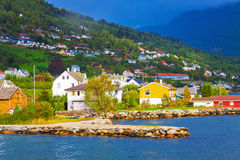 Mountain village in Norway Stock Photos