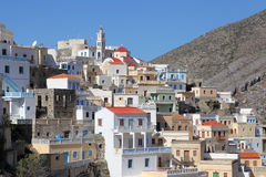 The mountain village Olympos on Karpathos Royalty Free Stock Photography