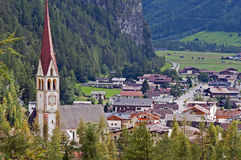Mountain village in Otztal, Tirol, Austria Royalty Free Stock Photos