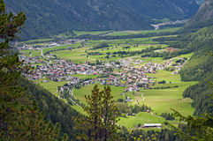 Mountain village in Otztal, Tirol, Austria Royalty Free Stock Photography
