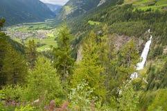 Mountain village in Otztal, Tirol, Austria Stock Photography