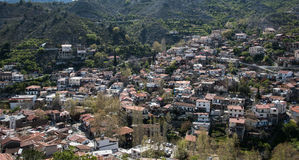 Mountain village of Palaichori at Troodos mountains, Cyprus Stock Photography