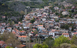 Mountain village of Palaichori at Troodos mountains, Cyprus. Mountain village of Palaichori at Troodos mountains in  Cyprus. The village is part of Pitsilia Stock Images