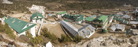 The mountain village of pangboche everest region Royalty Free Stock Photography