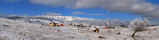 Mountain village panorama Stock Photos