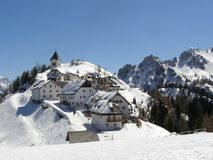 Mountain village panorama Royalty Free Stock Images