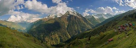Mountain Village Panorama Stock Image