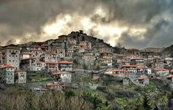 Mountain village. Panoramic view of a beautiful mountain village named Dimitsana,Peloponesse,Greece Royalty Free Stock Photos