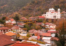 Mountain  village of Pedoulas Stock Photography
