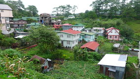 Mountain village. In the Philippines stock images